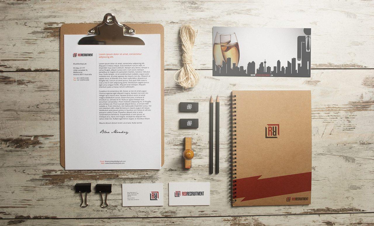 Red Recruitment Branding Design Calgary