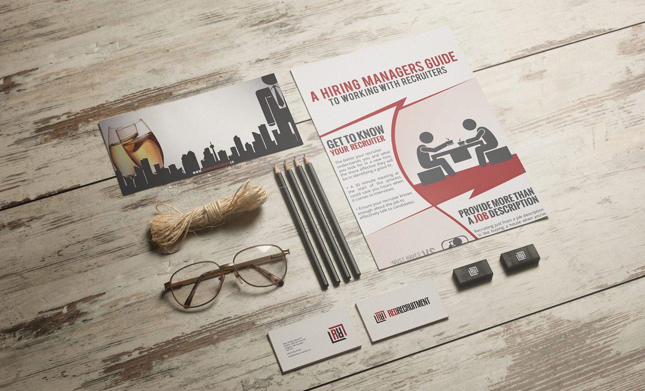 Red Recruitment Calgary Graphic Design