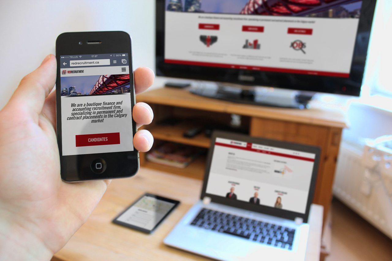 Red Recruitment Calgary Web Design