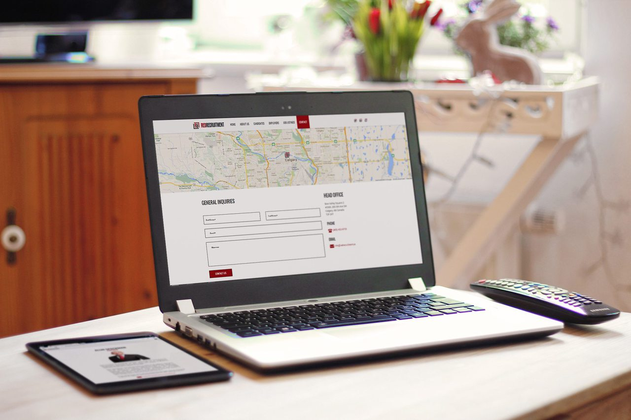 Red Recruitment Website Design Calgary