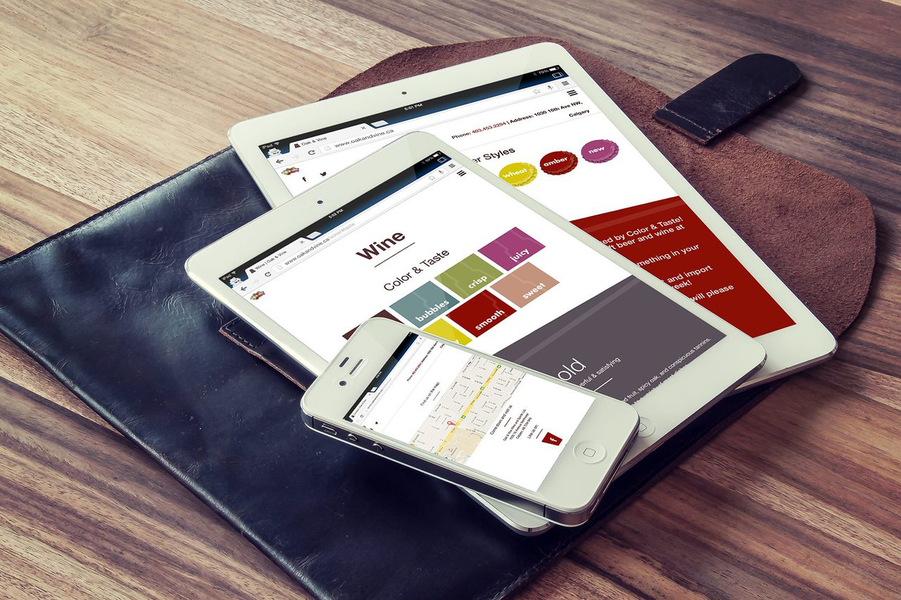 Oak & Vine Responsive Web Design