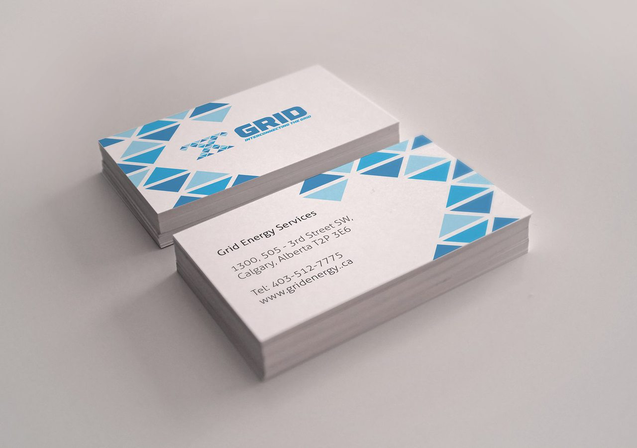 Grid Energy Business Card Design Calgary