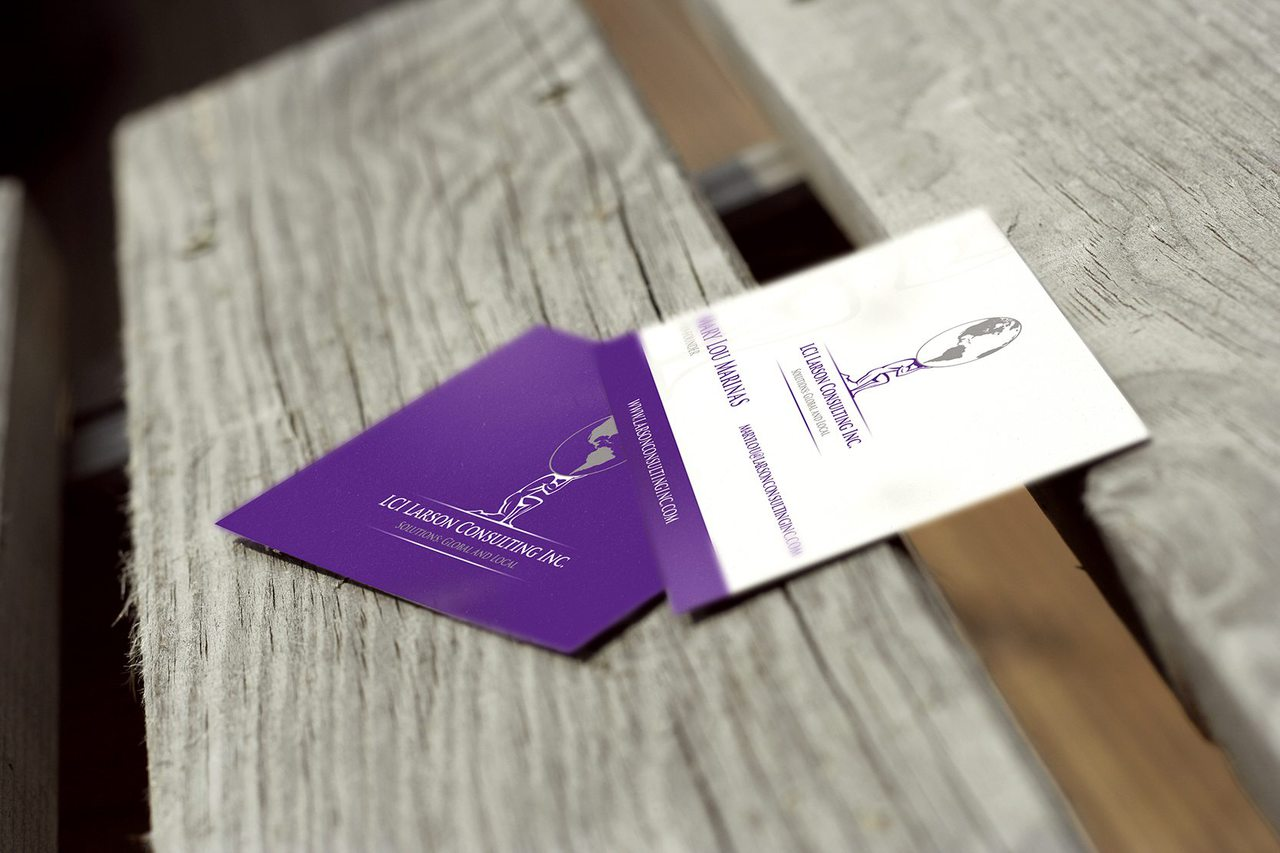 Larson Consulting Business Card Design