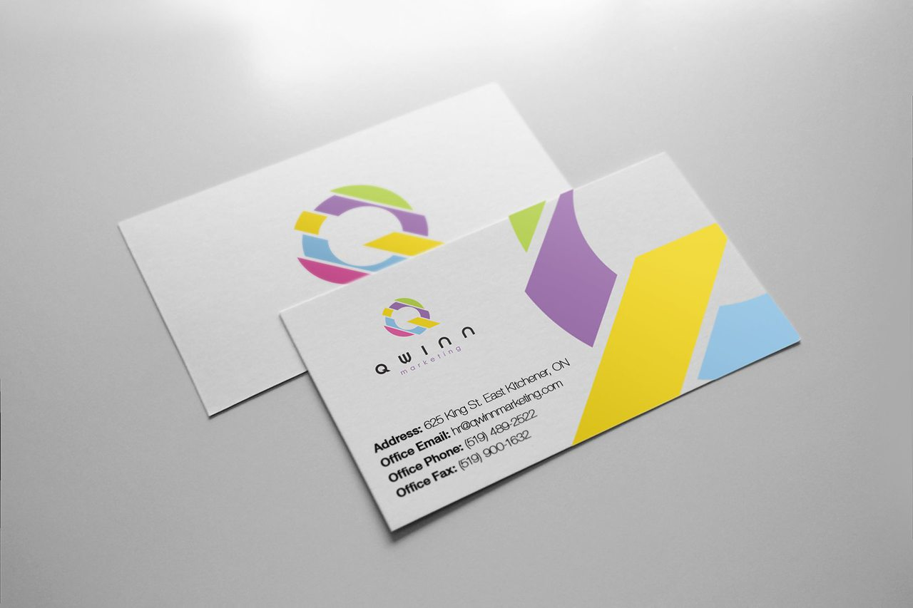 Qwinn Marketing Business Card Design