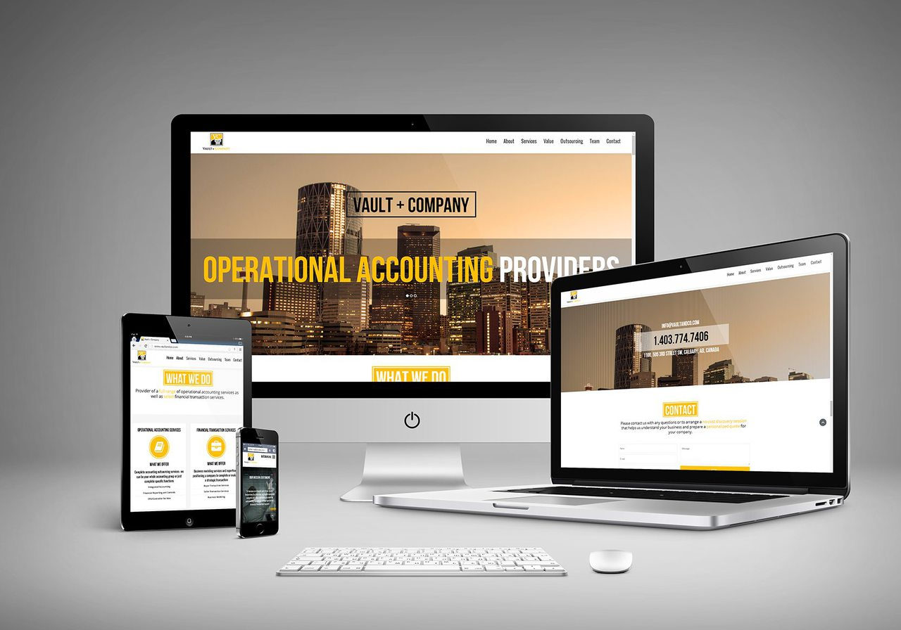 Vault and Co Calgary Website Design