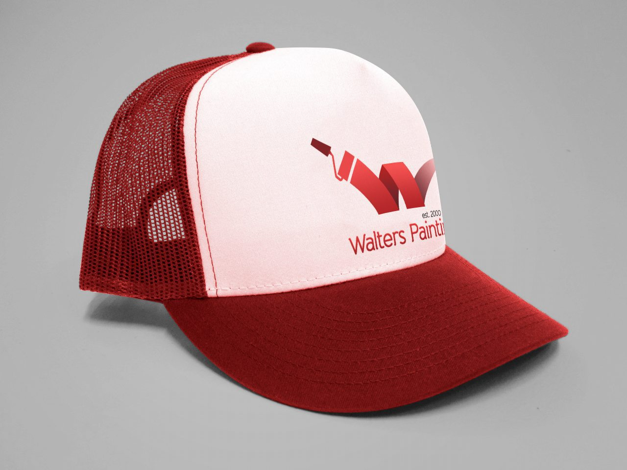 Walters Painting Branded Basecall Cap Design