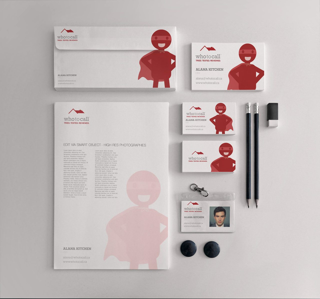Who to Call - Calgary Graphic Design Branding