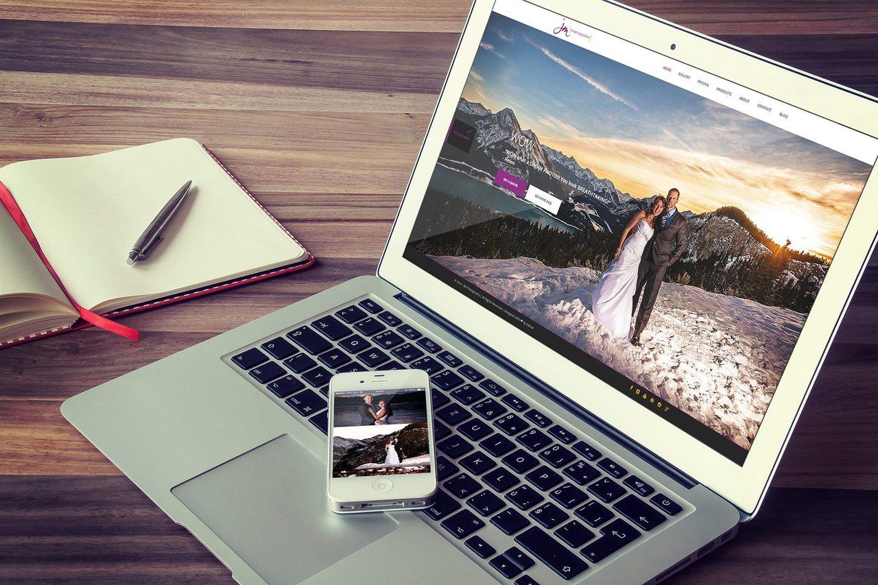 Calgary Web Design - JM Photography