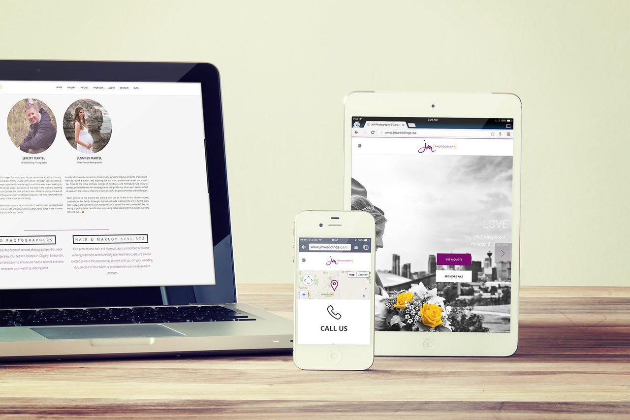 Web Design Calgary - JM Photography