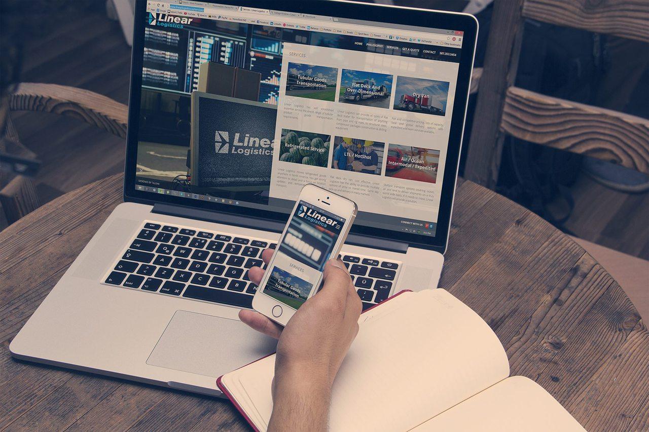 Linear Logistics - Web Design Calgary