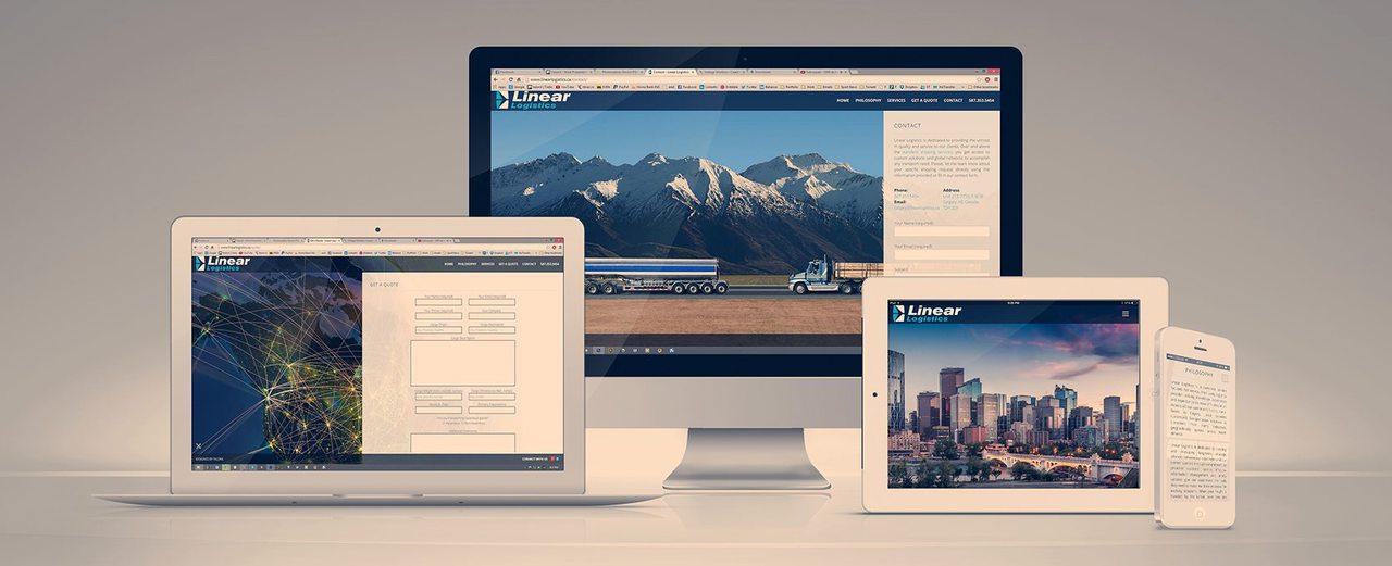 Linear Logistics - Website Design Calgary