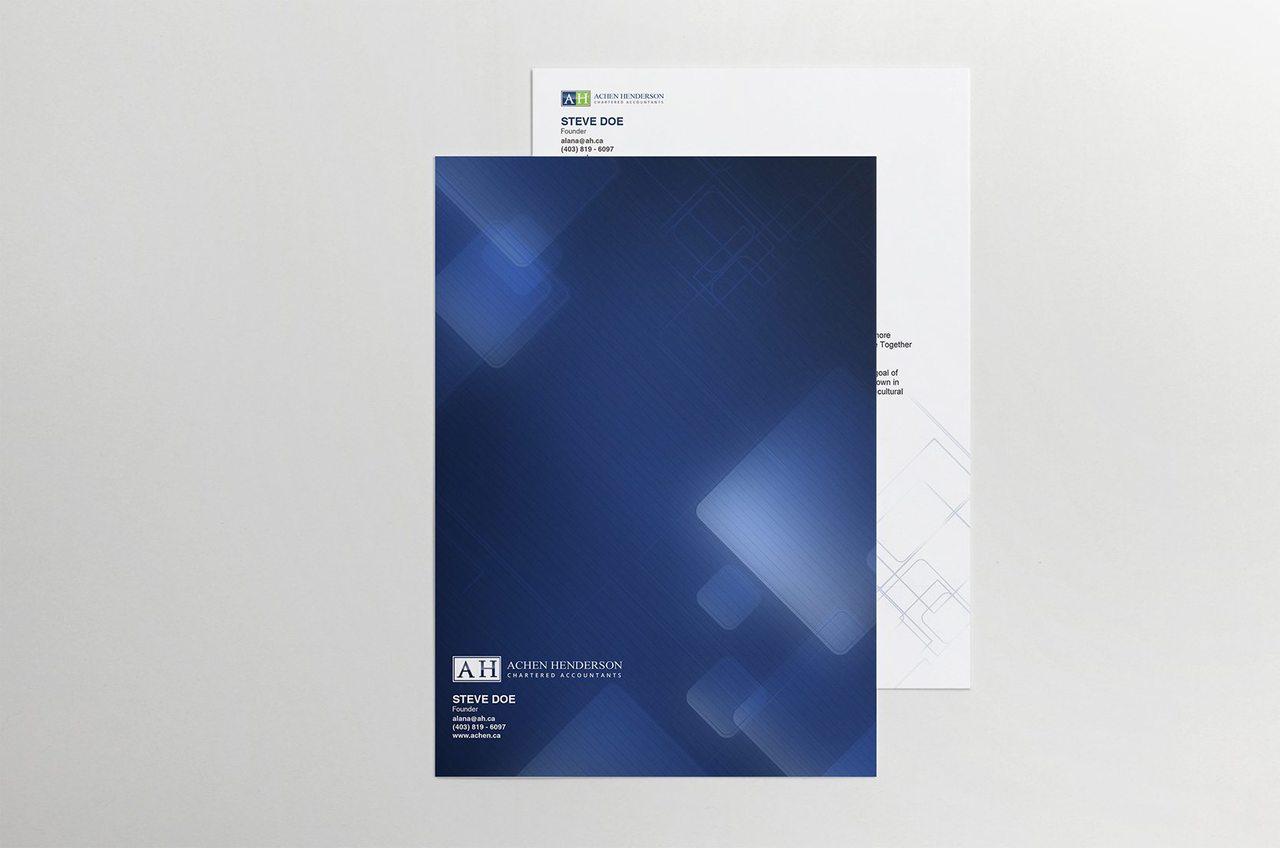 Achen Henderson Folder Design