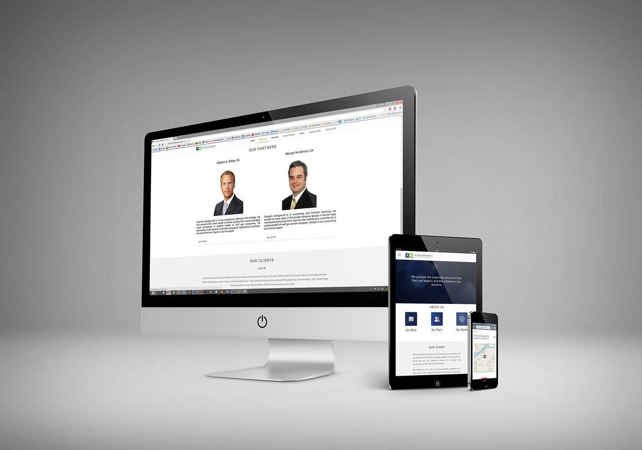 Achen Henderson Website Design