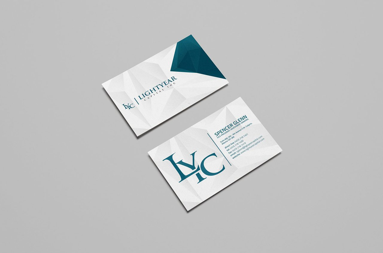 Lightyear Capital Calgary Business Card Design