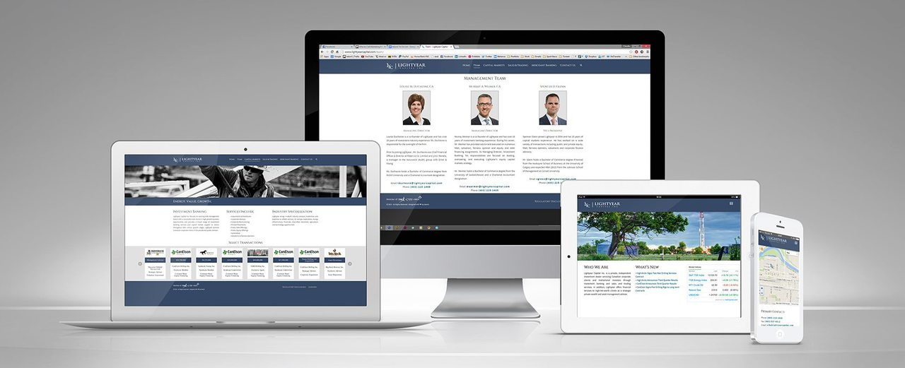 Lightyear Capital Calgary Website Design