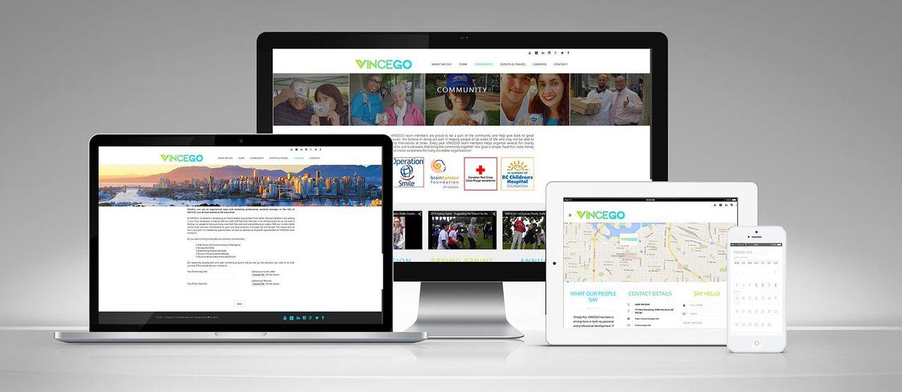 Vincego Calgary Web Design