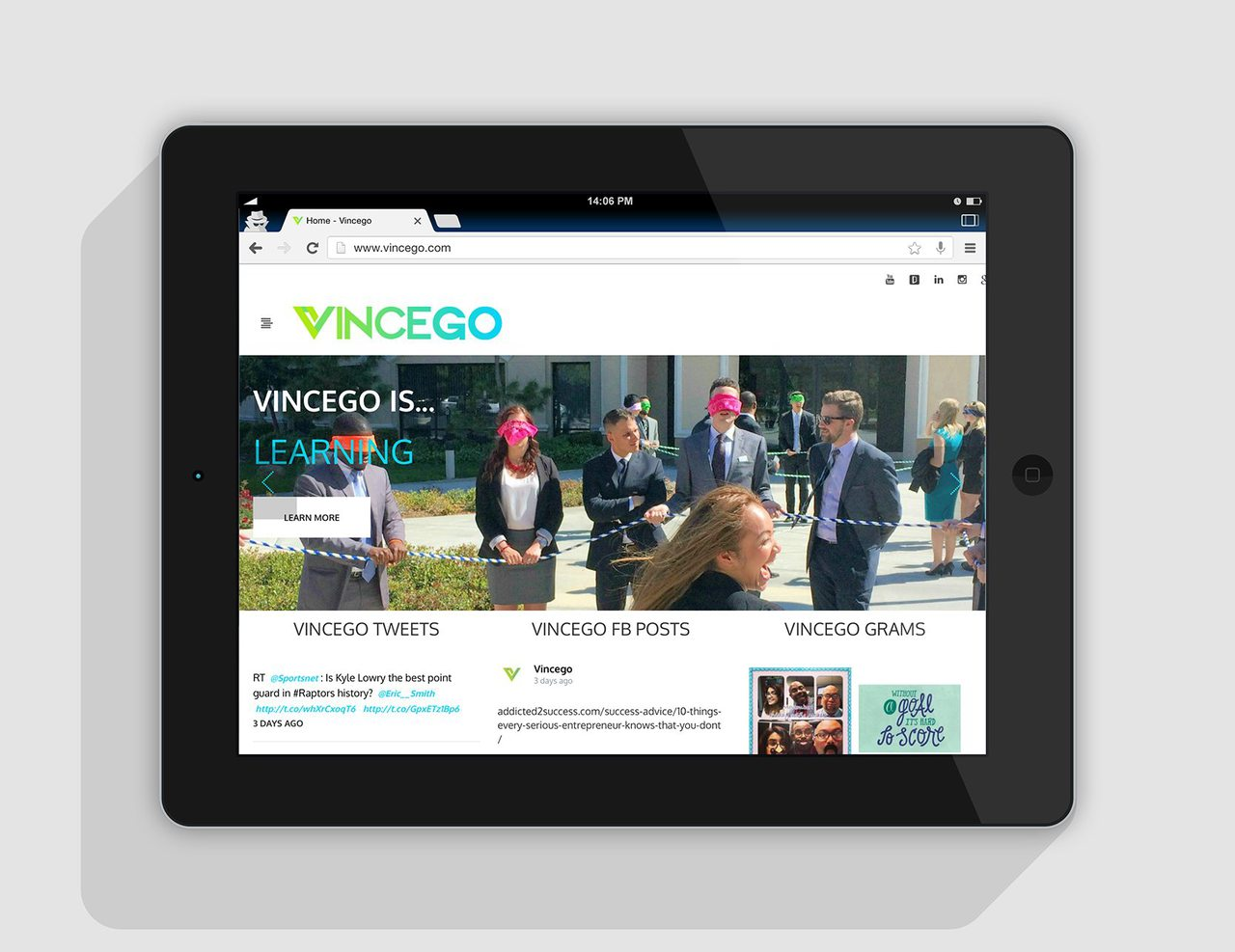 Vincego Calgary Website Design