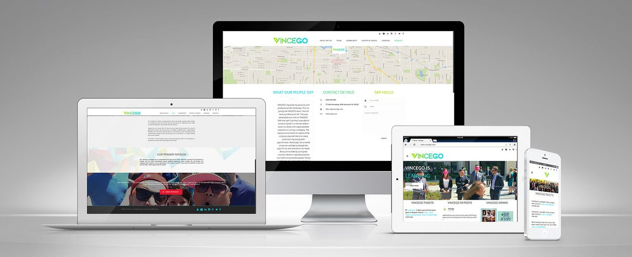Vincego Website Design
