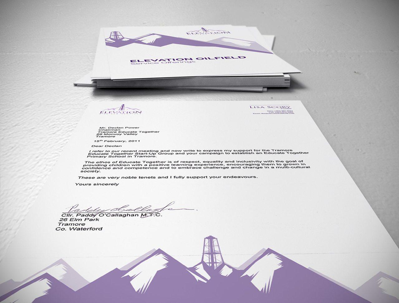 Elevation Oilfield Calgary Branding