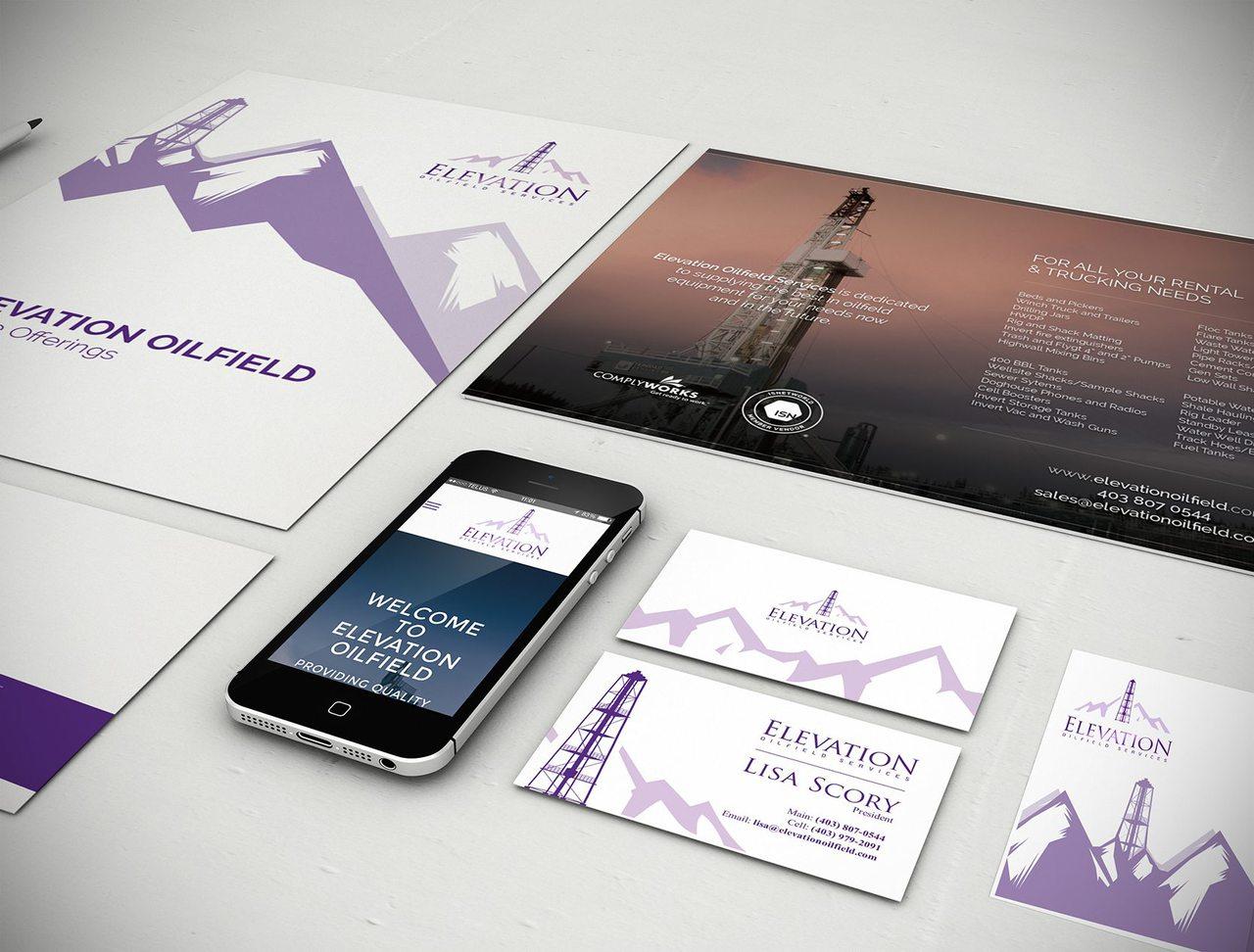 Elevation Oilfield Calgary Graphic Design