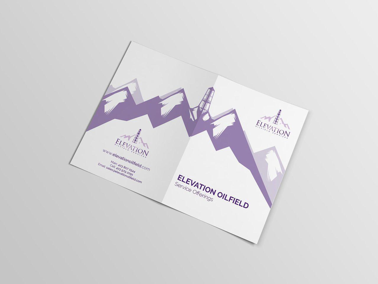 Elevation Oilfield Calgary Print Design