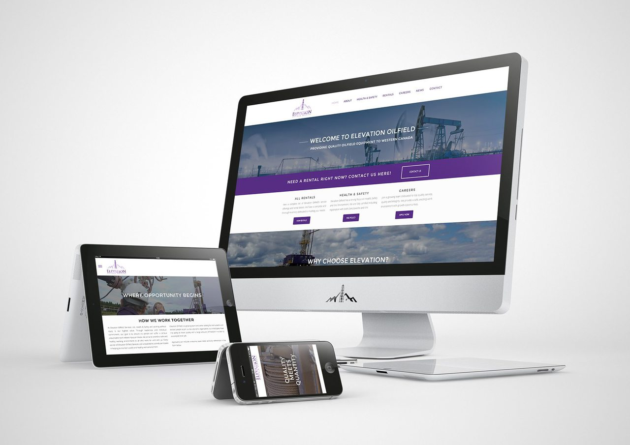 Elevation Oilfield Calgary Web Design