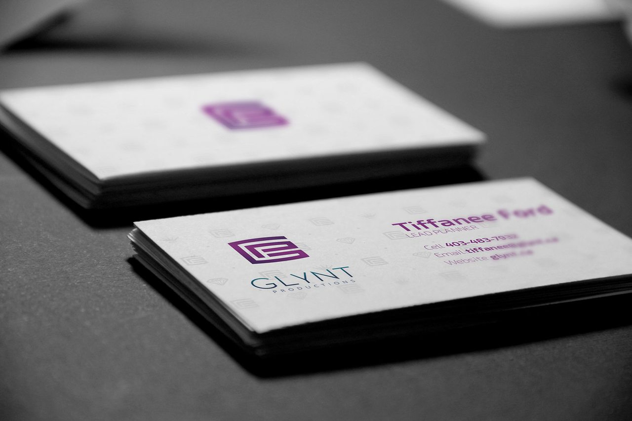 Glynt Productions Business Card Design