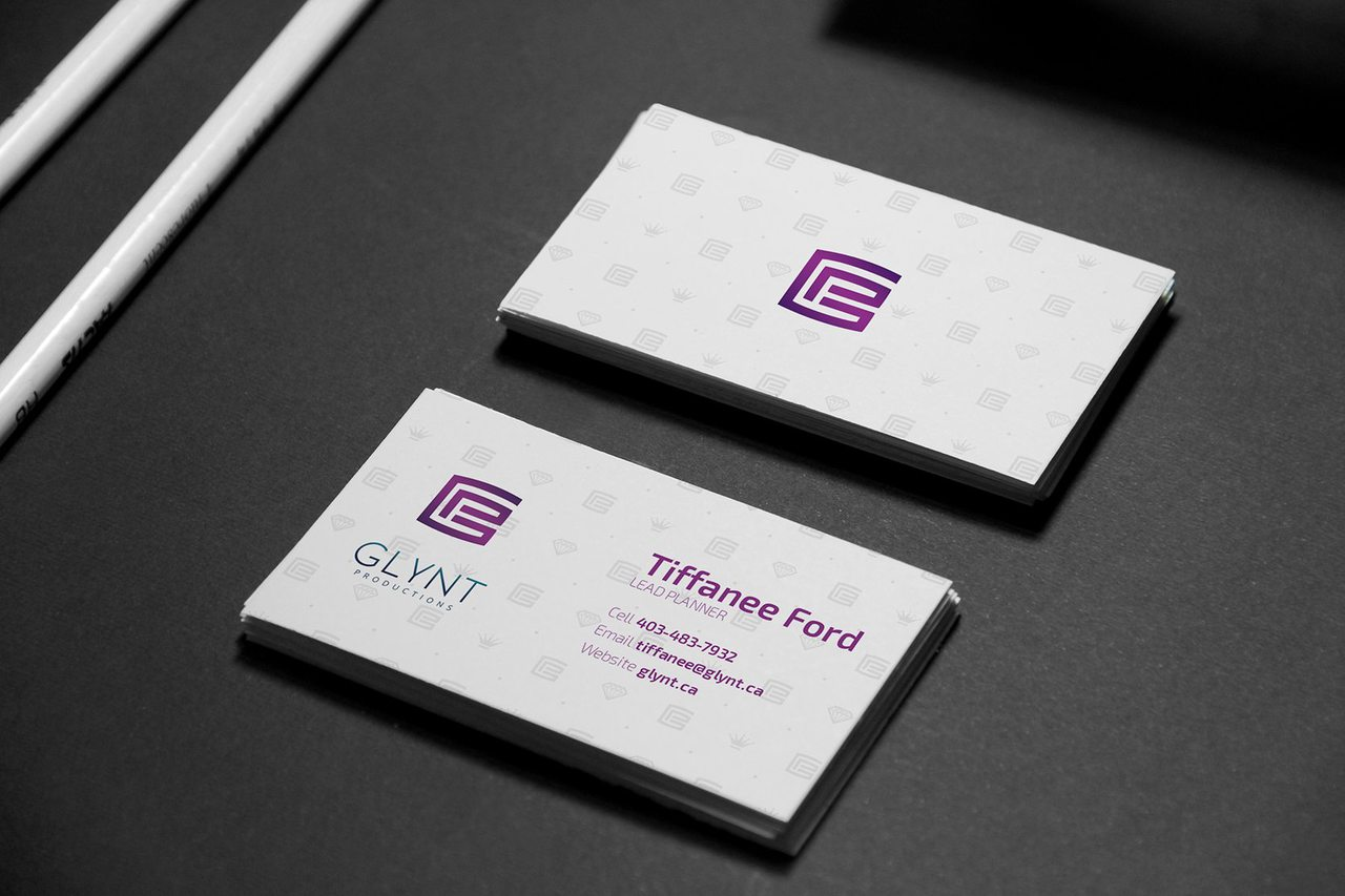 Glynt Productions Calgary Business Card Design