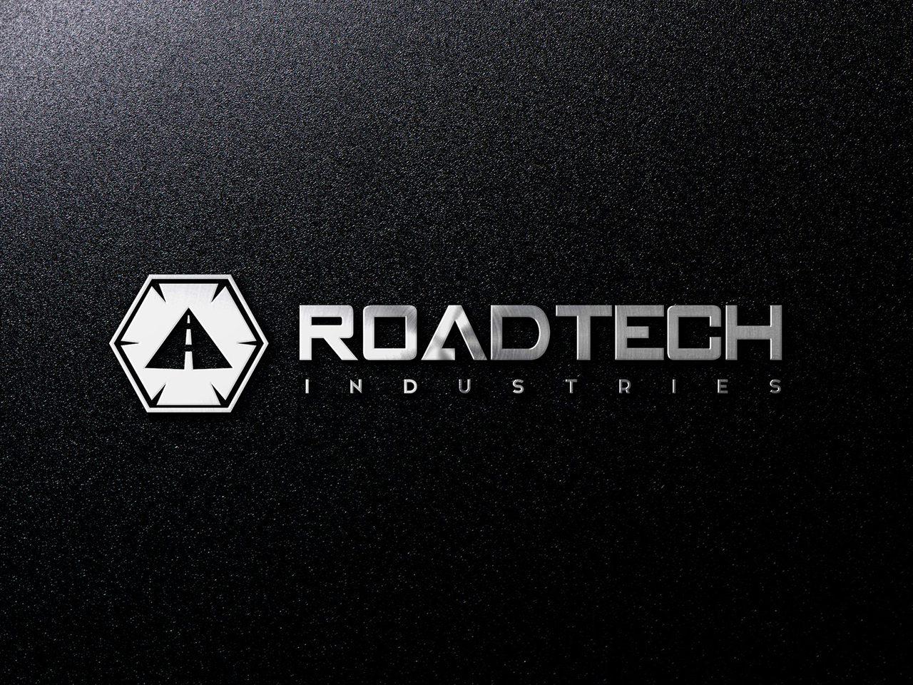 RoadTech Calgary Construction Logo Design