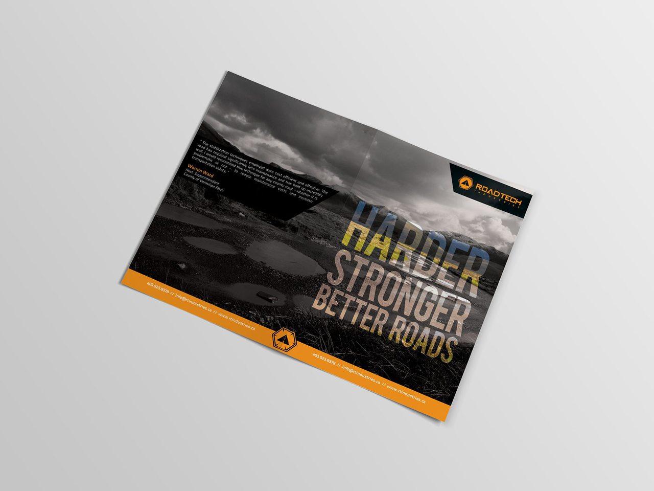 RoadTech Construction Brochure Design