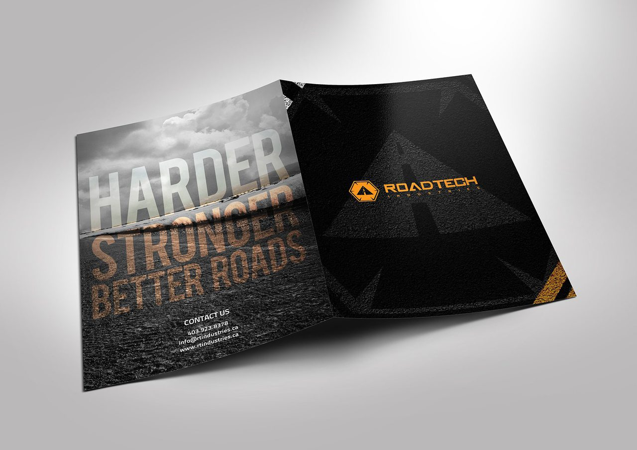 RoadTech Construction Folder Design
