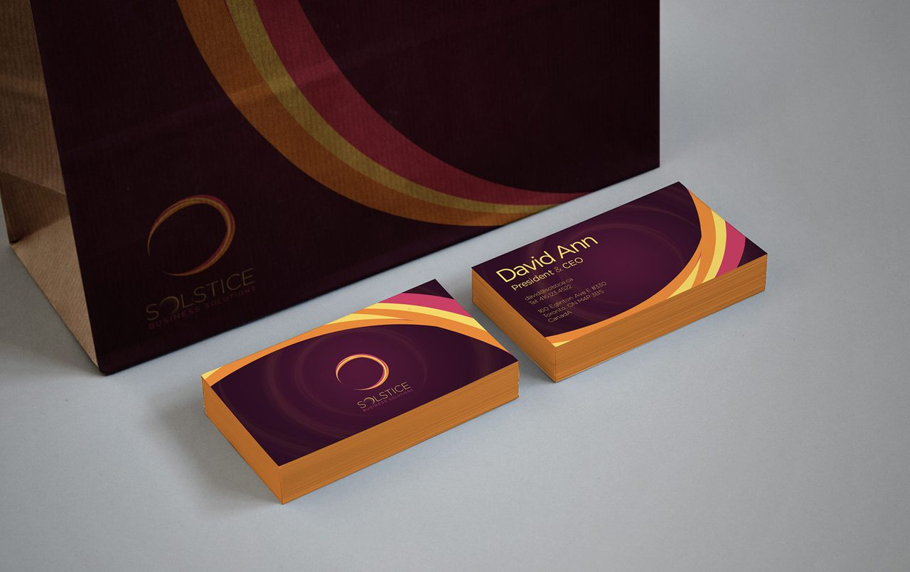 Solstice Calgary Business Card Design