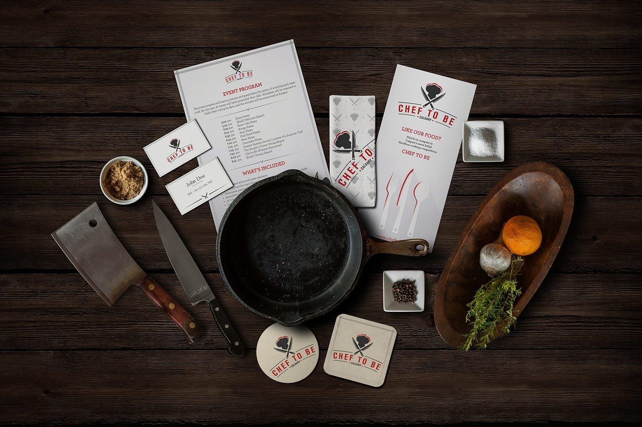 Chef to Be Cooking Competition Calgary Branding Design