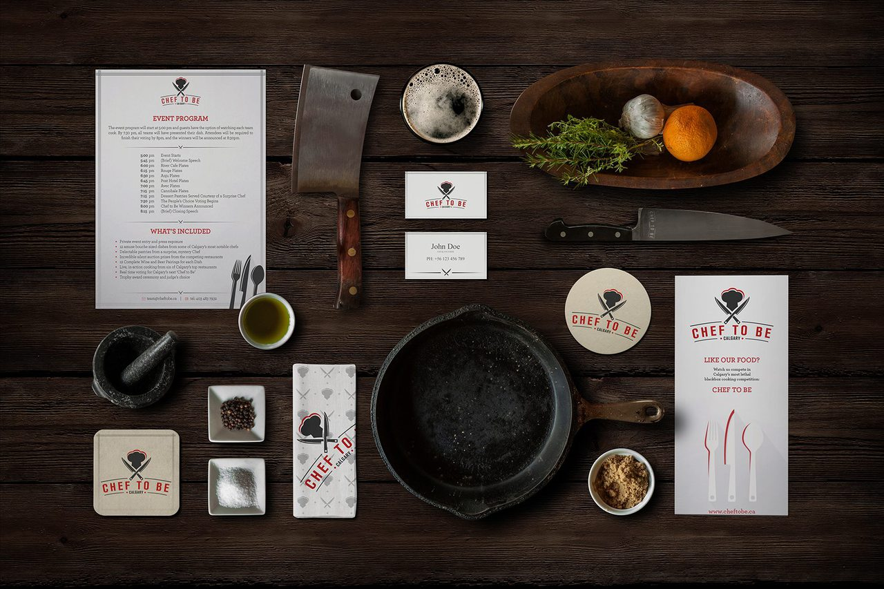 Chef to Be Cooking Competition Calgary Branding
