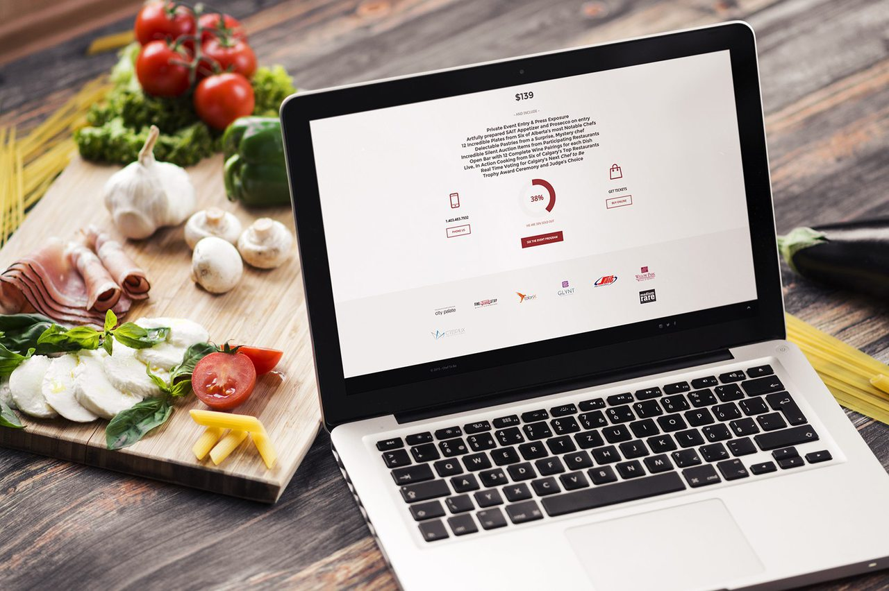 Chef to Be Cooking Competition Web Design Calgary