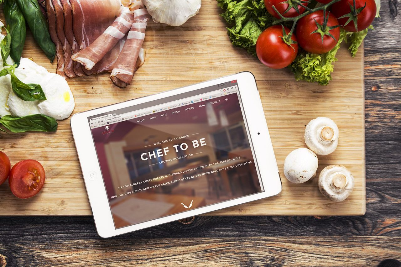 Chef to Be Cooking Competition Website Design Calgary