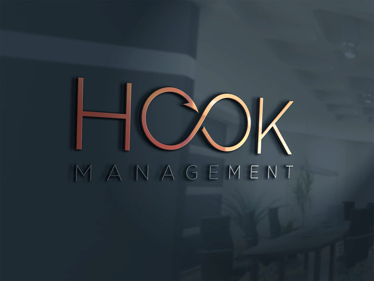 Hook Management Toronto Logo Design